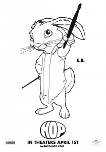 Free Printable HOP The Movie Coloring Page E.B.