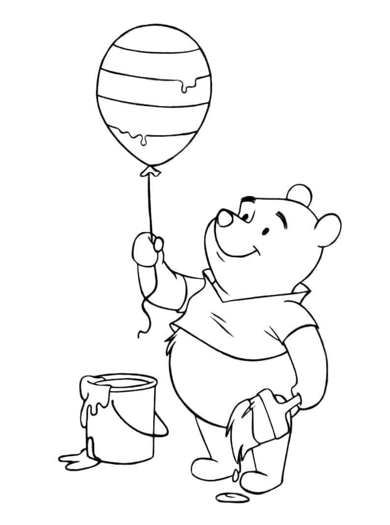 the pooh easter coloring pages - photo#25