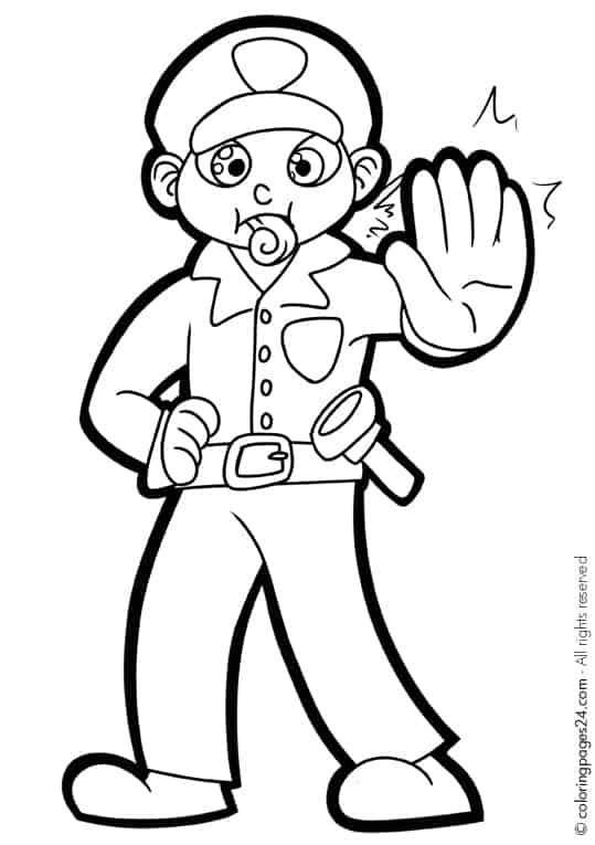 coloring pages of police officer - photo#26