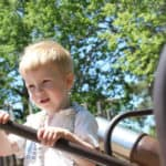 A snapshot of David at 2 years old