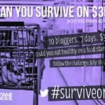 7 days of food, fam of 5, $109.78. The #SurviveOn35 wrap up