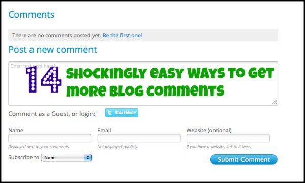 14 easy ways to get more blog comments