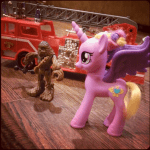 Chewbaca, a fire truck and My Little Pony
