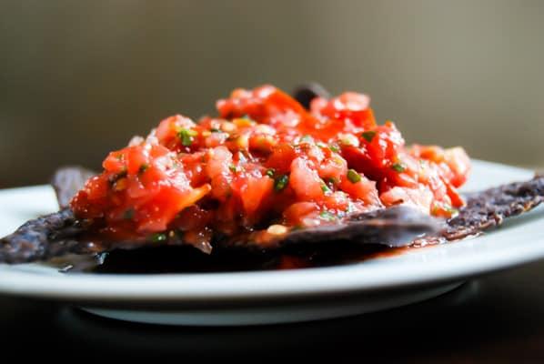 Tomato Cilantro Salsa on chips