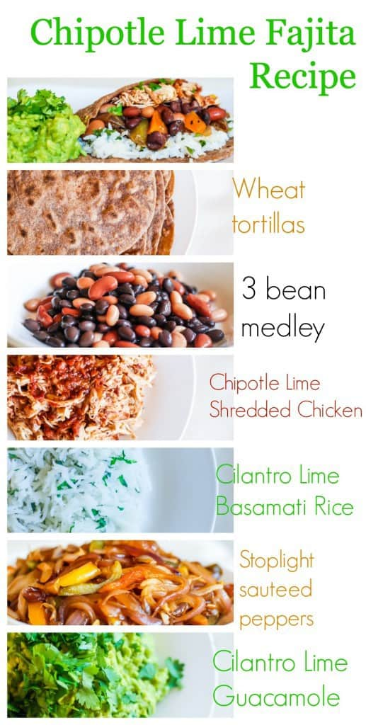 Super healthy high fiber Chipotle Lime Fajitas Recipe