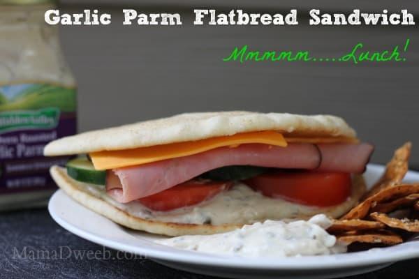 Garlic Parmesan Ham Flatbread