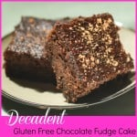 Decadent Gluten Free Chocolate Fudge Cake #Gfree