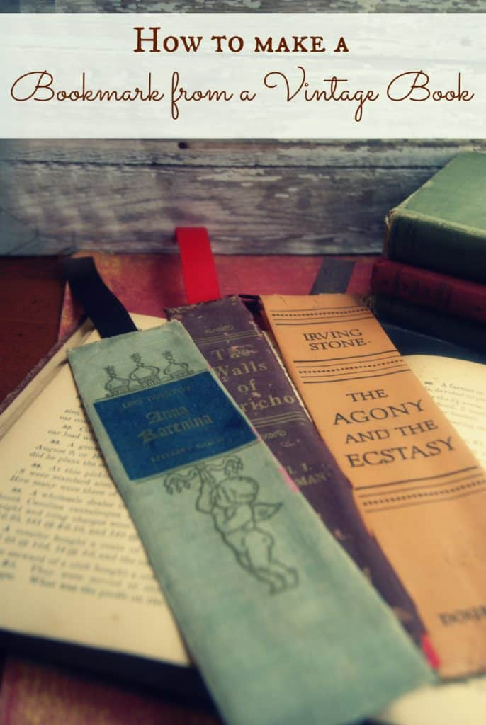 How To Make A Bookmark From A Vintage Book