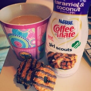 Caramel Delites and coffee