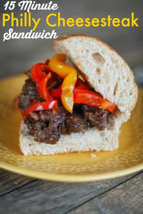 15 minute philly cheesesteak sandwich