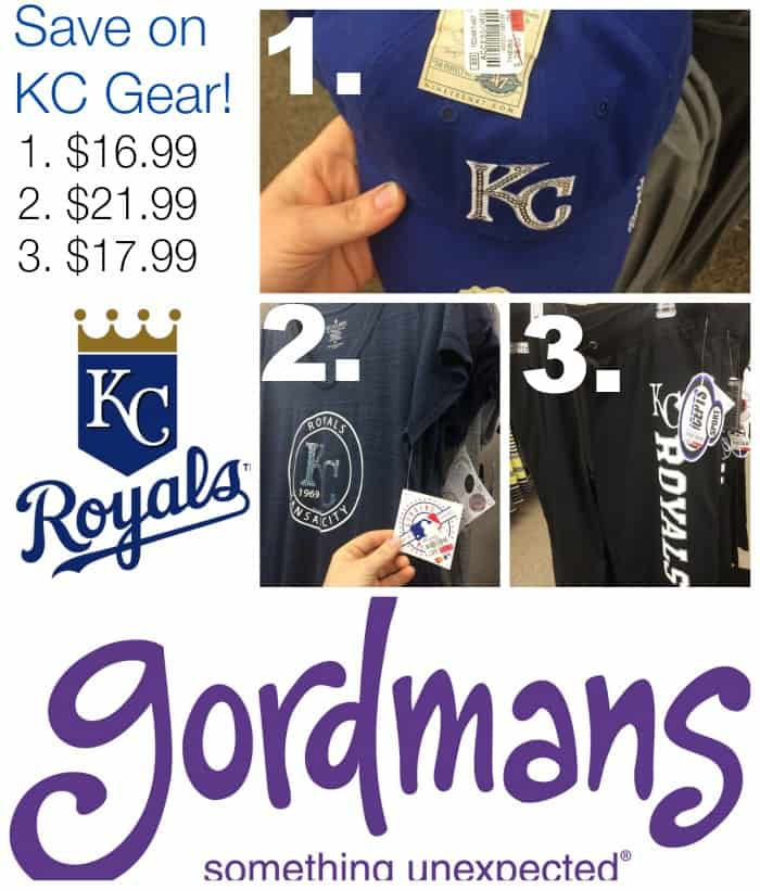 Save money on KC Royals Gear at Gordmans