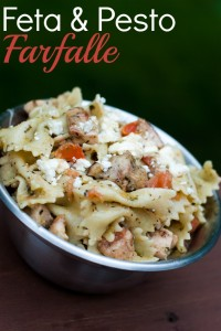 Feta and Pesto Farfalle