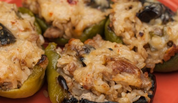 Grilled Garden Veggie Stuffed Peppers