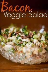 bacon veggie salad