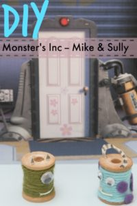 How to make Mike & Sully out of spools of thread