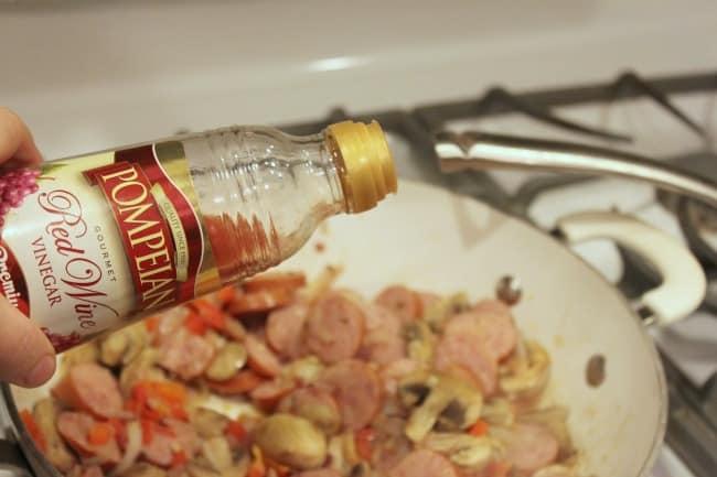 Red Wine Vinegar in Skillet
