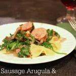 Sausage Arugula & Spinach Skillet Recipe with Vinaigrette dressing