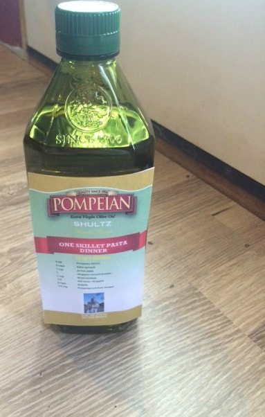 personalized label for olive oil