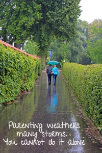 Parenting weathers many storms quote