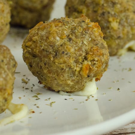 Mozzarella Pork Meatballs