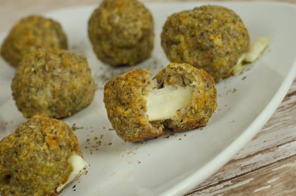 Mozzarella Pork Meatballs