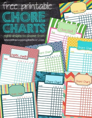 20 Free Printable Chore Charts For Kids Updated Weekly