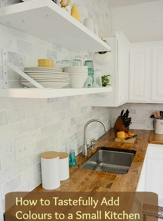 How to Tastefully Add Colours to a Small Kitchen