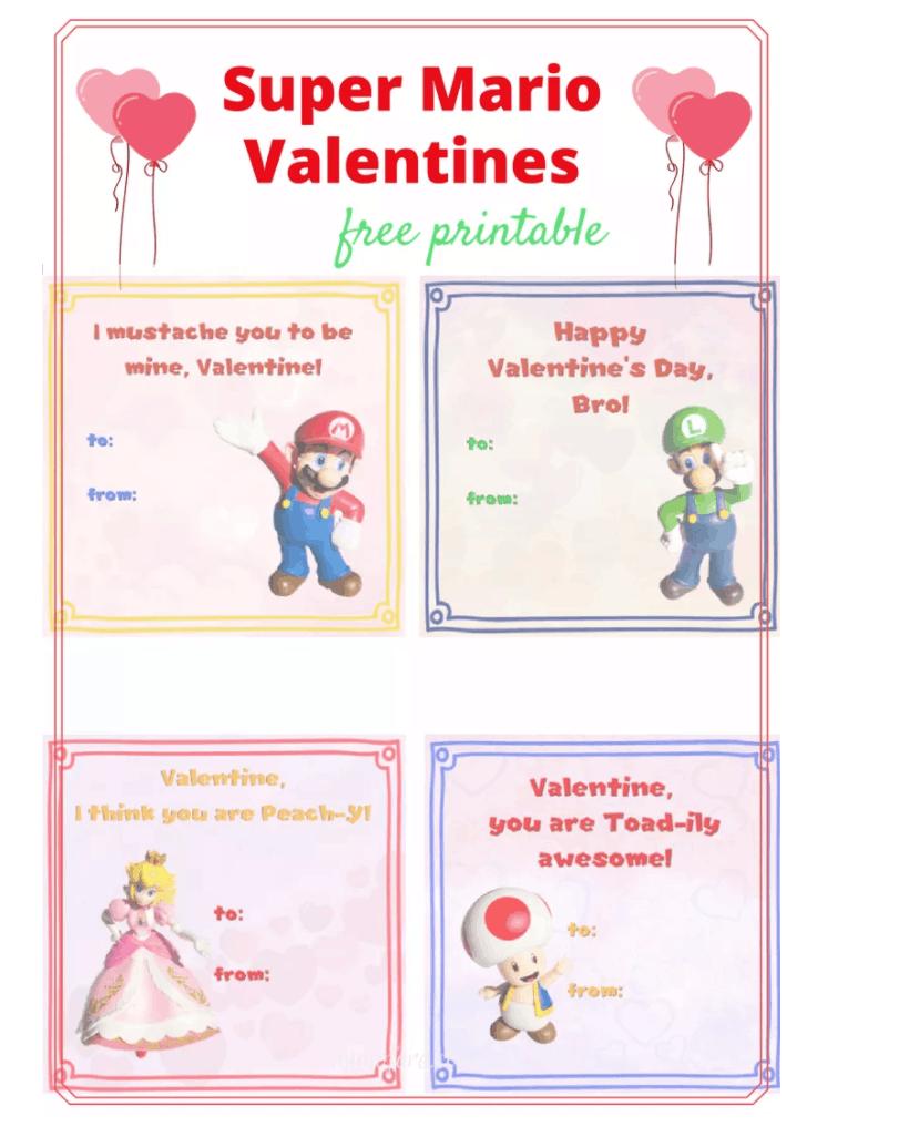 Free Printable Mario Valentines