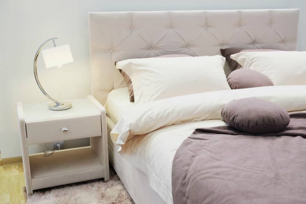 Bed with Duvet and Pillows