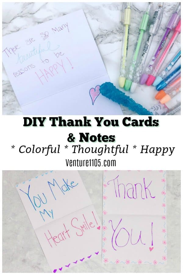 DIY Thank You Cards & Notes: How To Make Your Cards POP!
