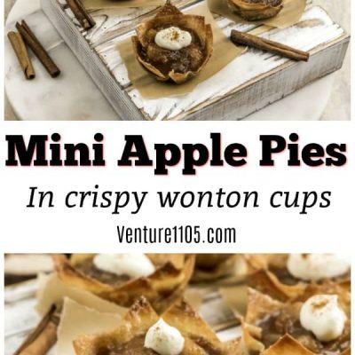 Mini Apple Pies in Wonton Cups – Rich And Crispy Treats