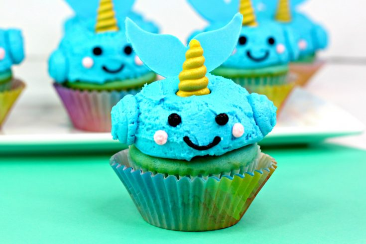 Easy Narwhal Cupcakes