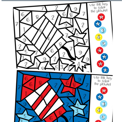 Free Printable July 4th Coloring Page