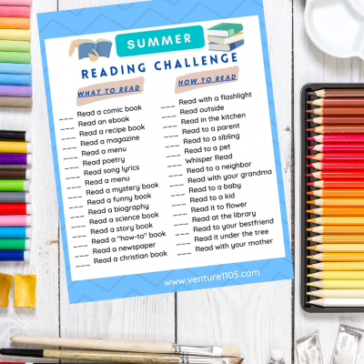Free Printable Summer Reading Challenge